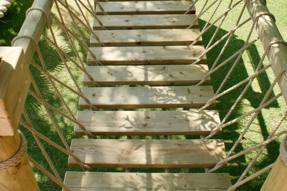 Rope Bridge slats and timber deck