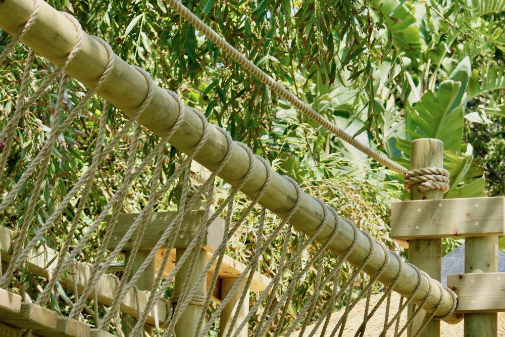 Rope Bridge 'fixed-beam' and rope work