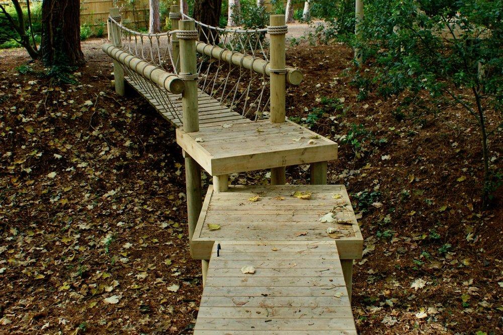 Woodland Rope Bridge, decks and Draw-Bridge