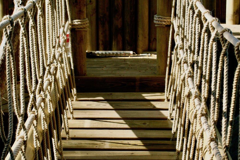 Tree House Rope Bridge entrance