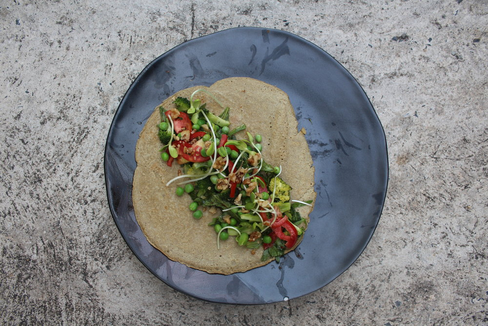 Savoury Buckwheat Wraps