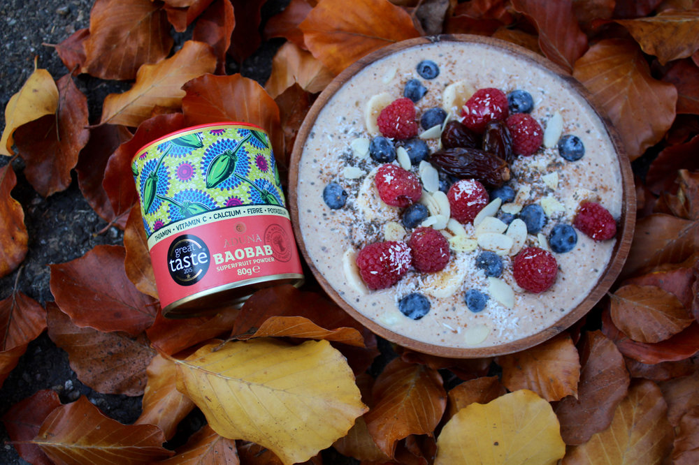 Almond and Cashew Yoghurt with Baobab