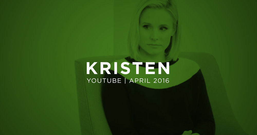 Kristen Bell talking about depression and anxiety. April 6, 2016