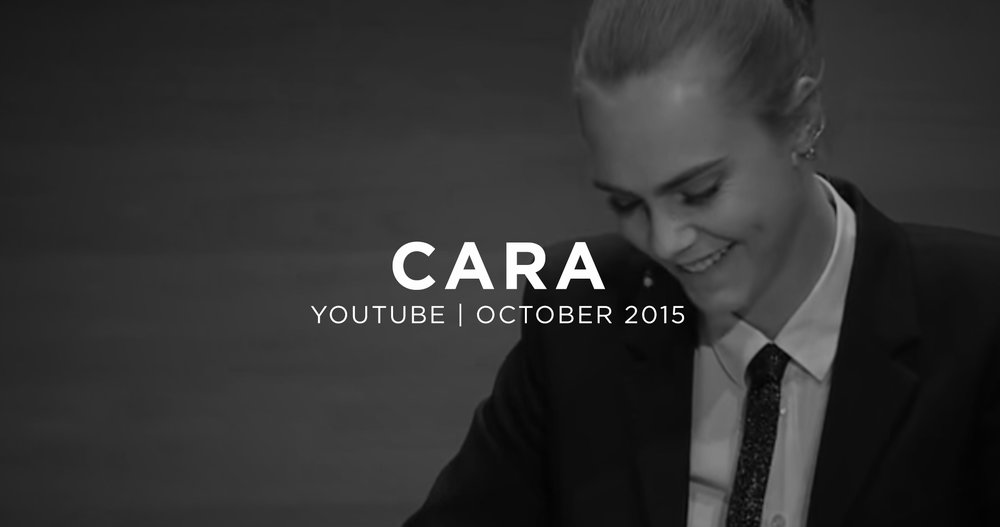 Cara Delevingne on Depression. October 2015