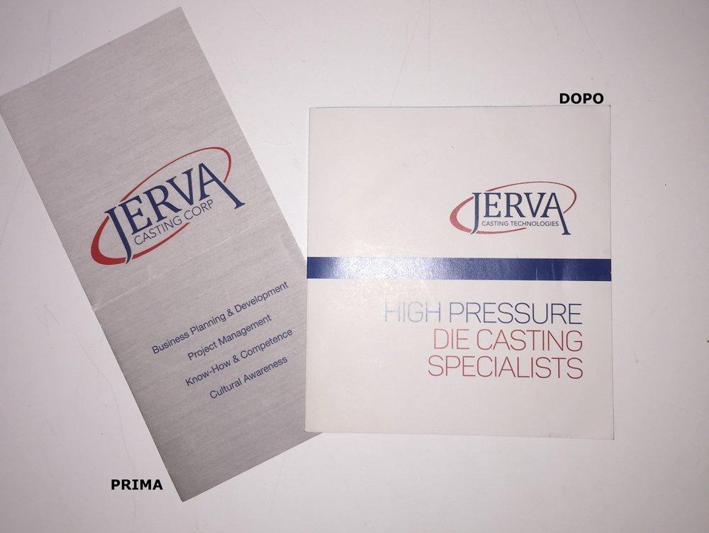 - 1. Presentazione di Jerva Casting Technologies PRIMA e DOPO l'intervento sul posizionamento