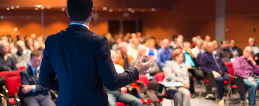 Organizing event speaker conference management