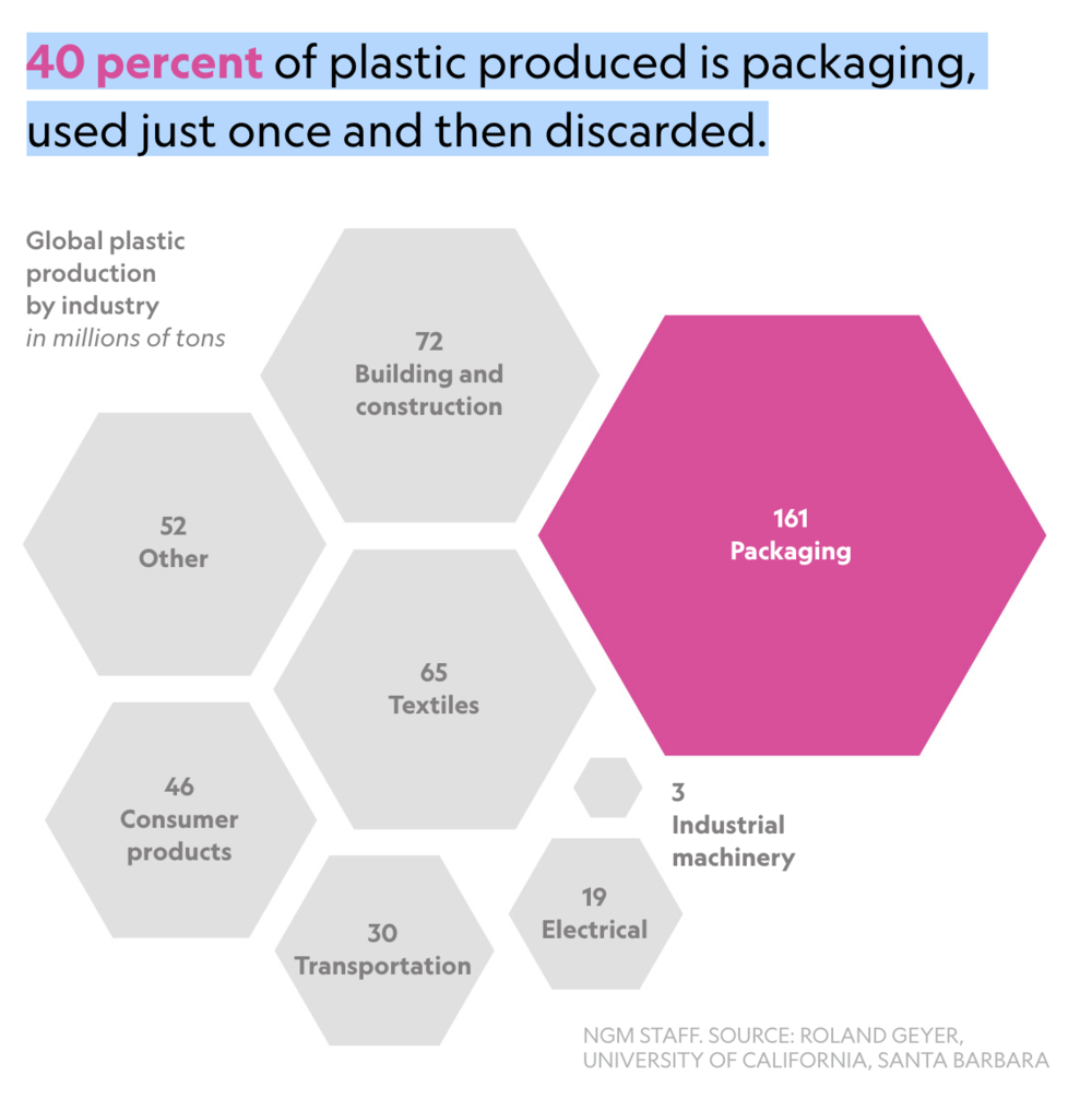From National Geographics: Fast Facts About Plastic Pollution