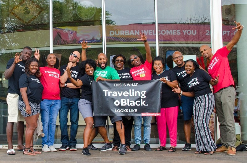 Traveling Black group in Durban, South Africa.