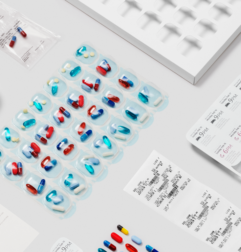 TowerView Health pre-sorted medication trays by dose