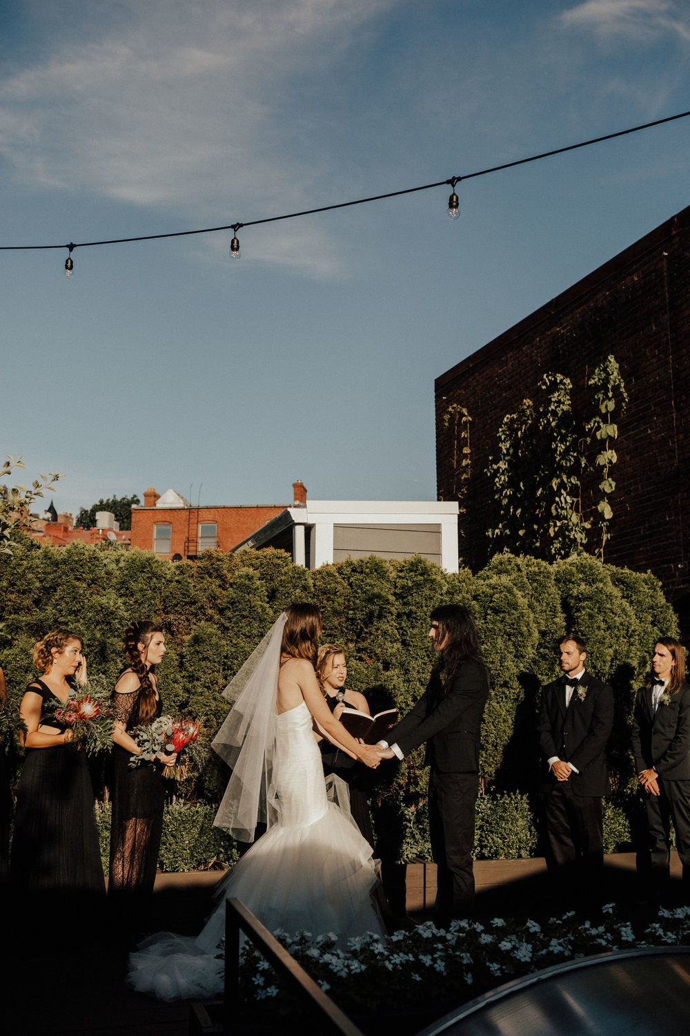 Fathom Gallery  - The most gorgeous rooftop to get married on in the D.C area! Perfect for smaller sized weddings!