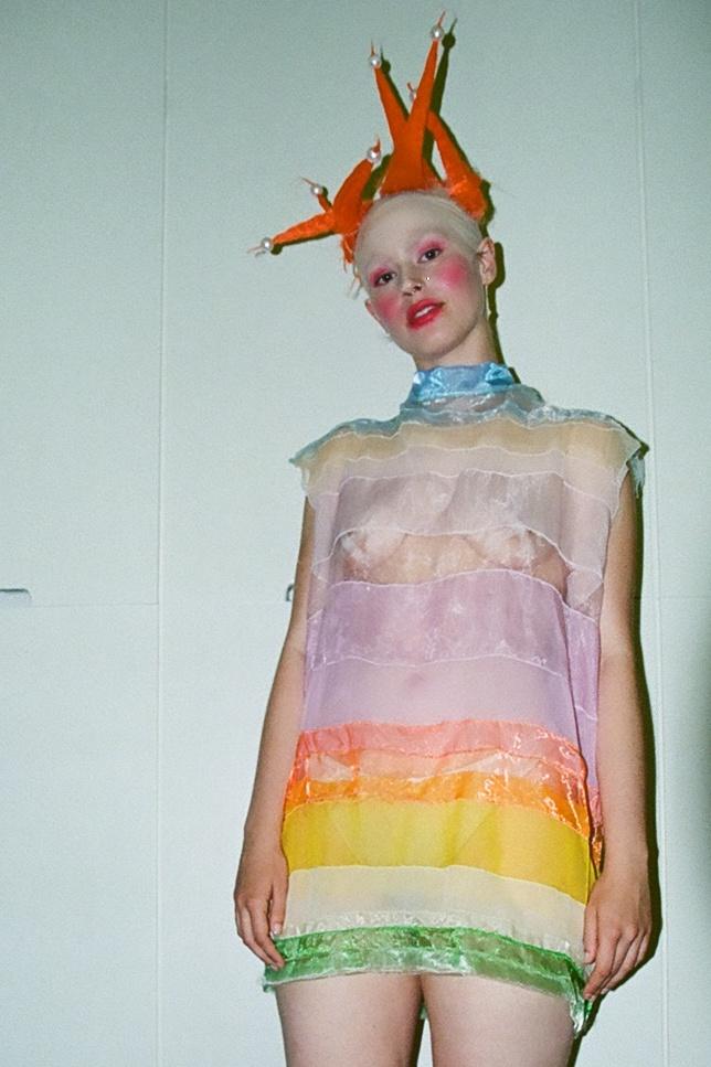 Danni Spooner London Queer Fashion Show V&A Livia Rita Designer Avantgarde artfashion Liviarita art Fashion new fashion swiss designer London Zurich artist