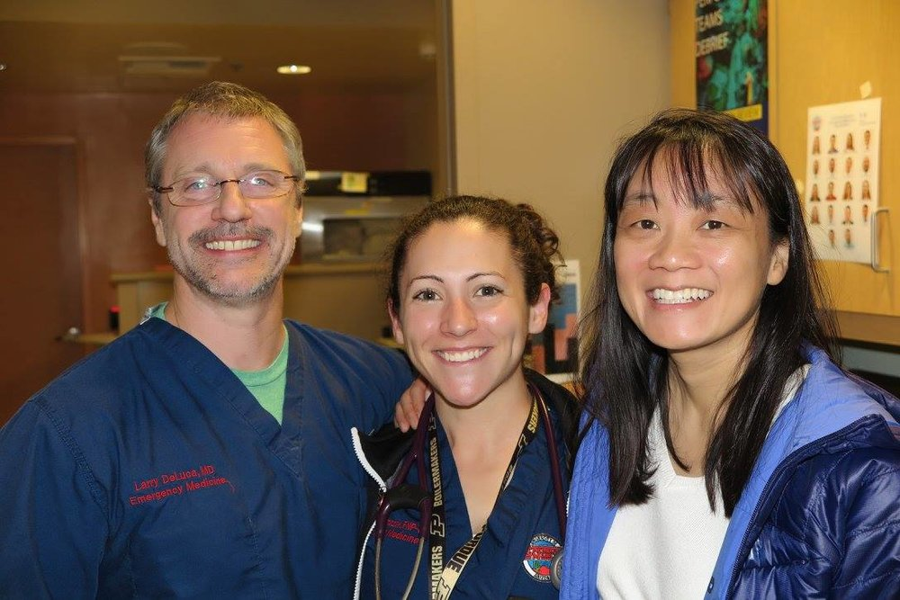 Larry DeLuca, Sherri Tomerczaak, and Lisa Chan. Photo by Kevin Reilly, MD.