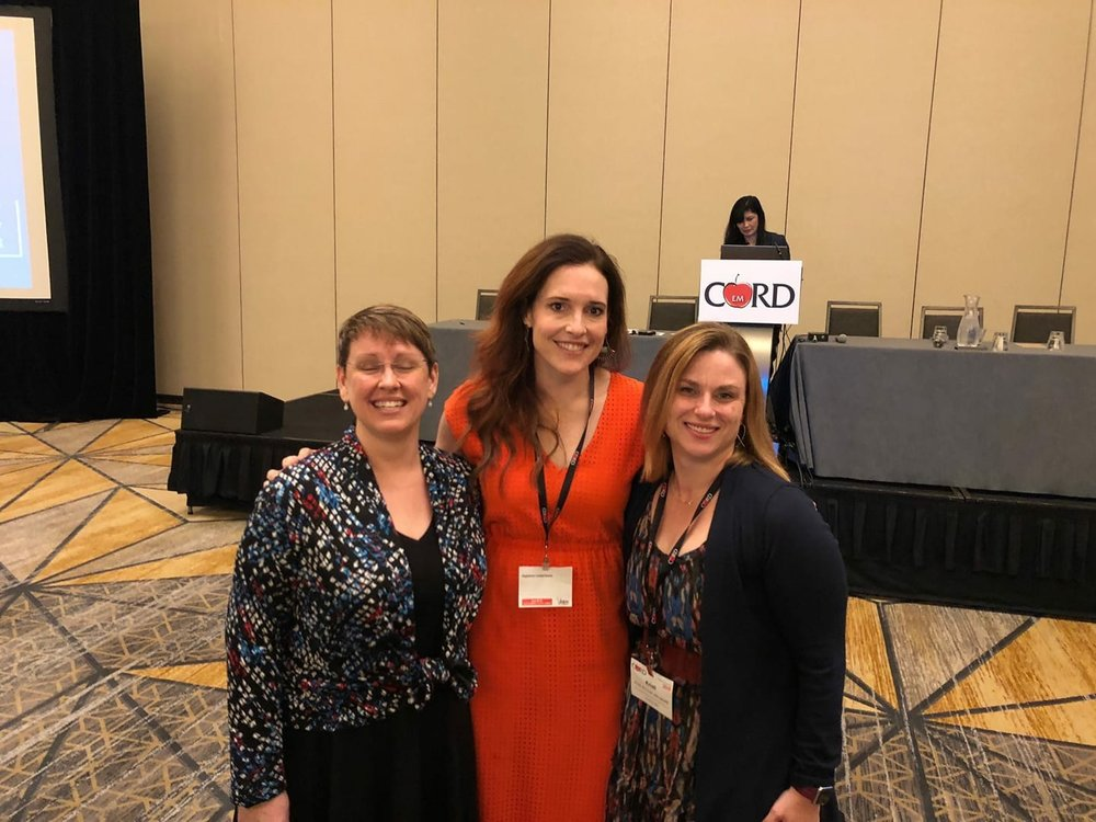 Kelly Barringer and Kristi Grall at CORD Academic Assembly 2018.