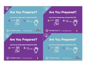 Are you prepared?  Postcard