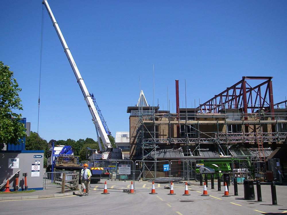 Installation of truss