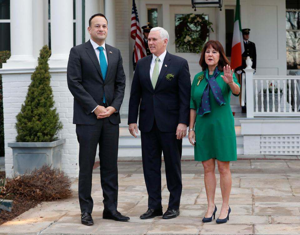 Moments after the Taoiseach told Vice President Pence that his wife had a prior engagement