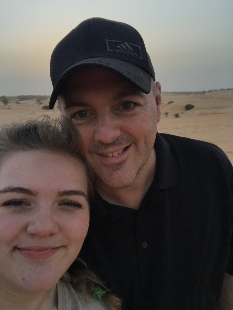 Pastor Brent and his daughter, Serena in Senegal.