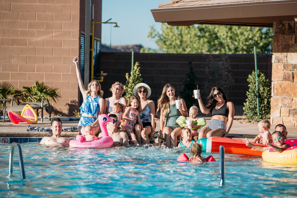 Swimming at theClub - Get ready for fun in the sun all summer longat the BCC's bigger-than-ever swimming pool!