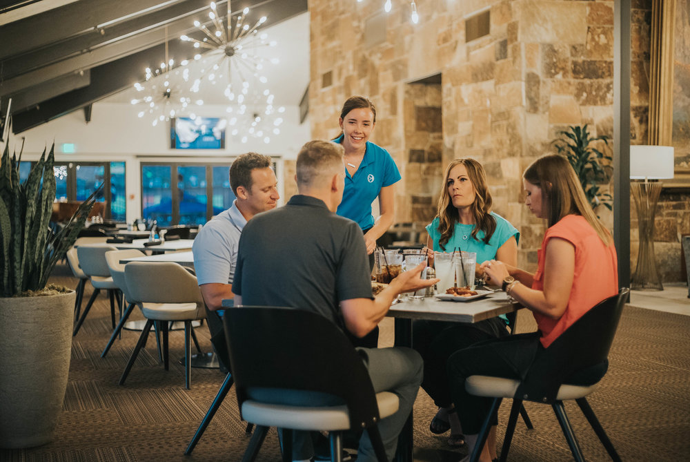 Restaurant - Accented by views of the BCC golf course, the restaurant's new menu provides a relaxing yet elegant dining experience the whole family can enjoy.