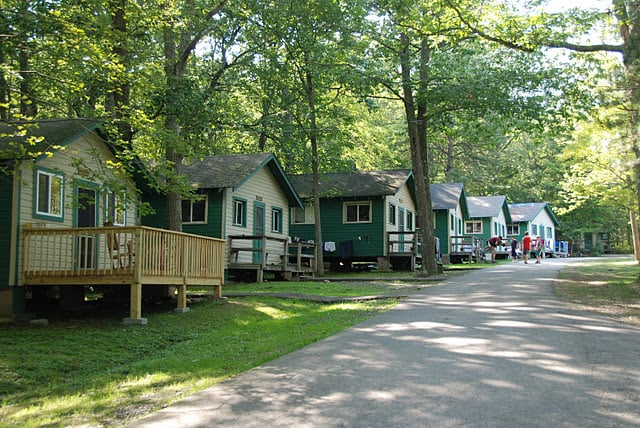 Camp Max is a giant slumber party! Our cabins are spacious, comfortable, clean and cheerful. All cabins have electricity, showers and toilets. You and your child can share a cabin with other families, or if you prefer more privacy, you can reserve a private room inside a cabin.
