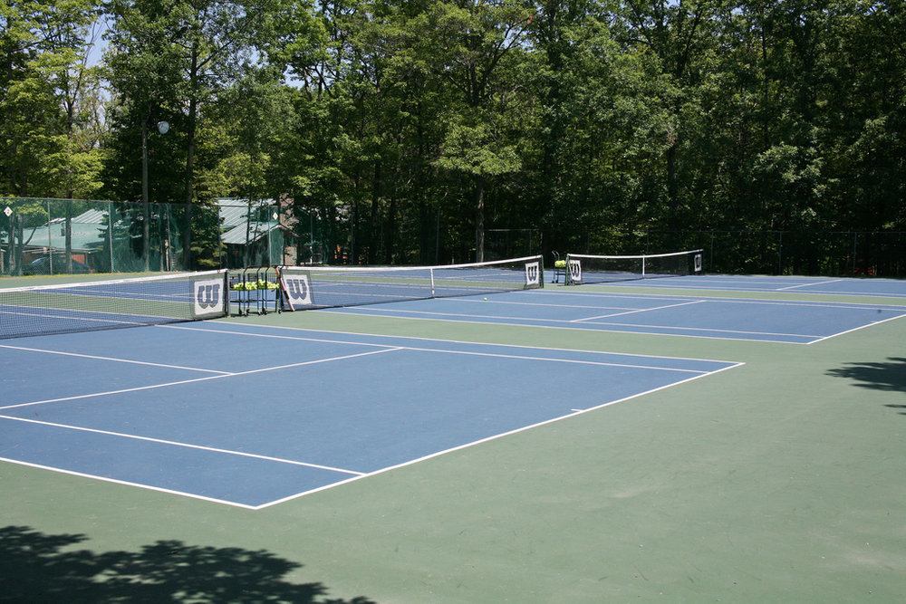 There are six beautiful tennis courts open all day for your enjoyment.