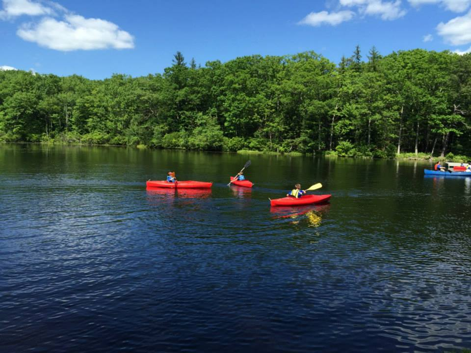 Beautiful Lake Owego is great for swimming, boating or relaxing with friends.