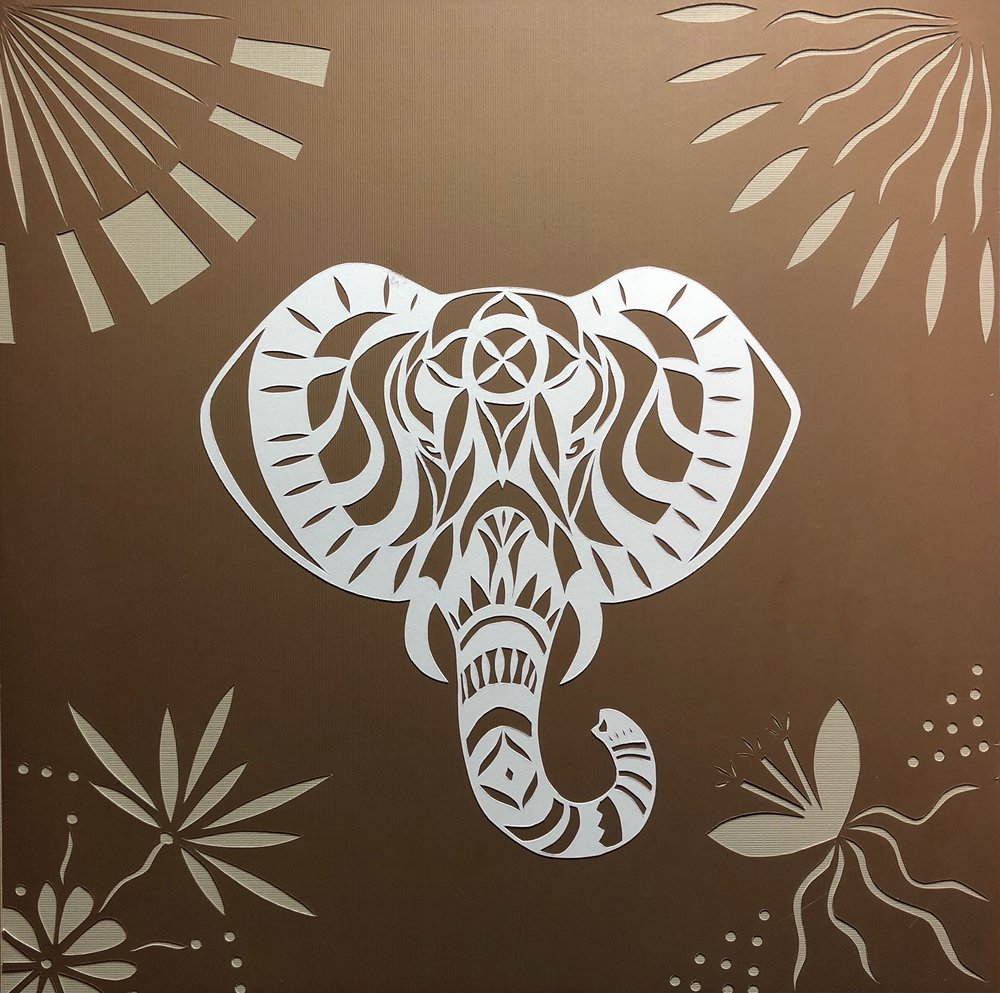 Elephant in brown