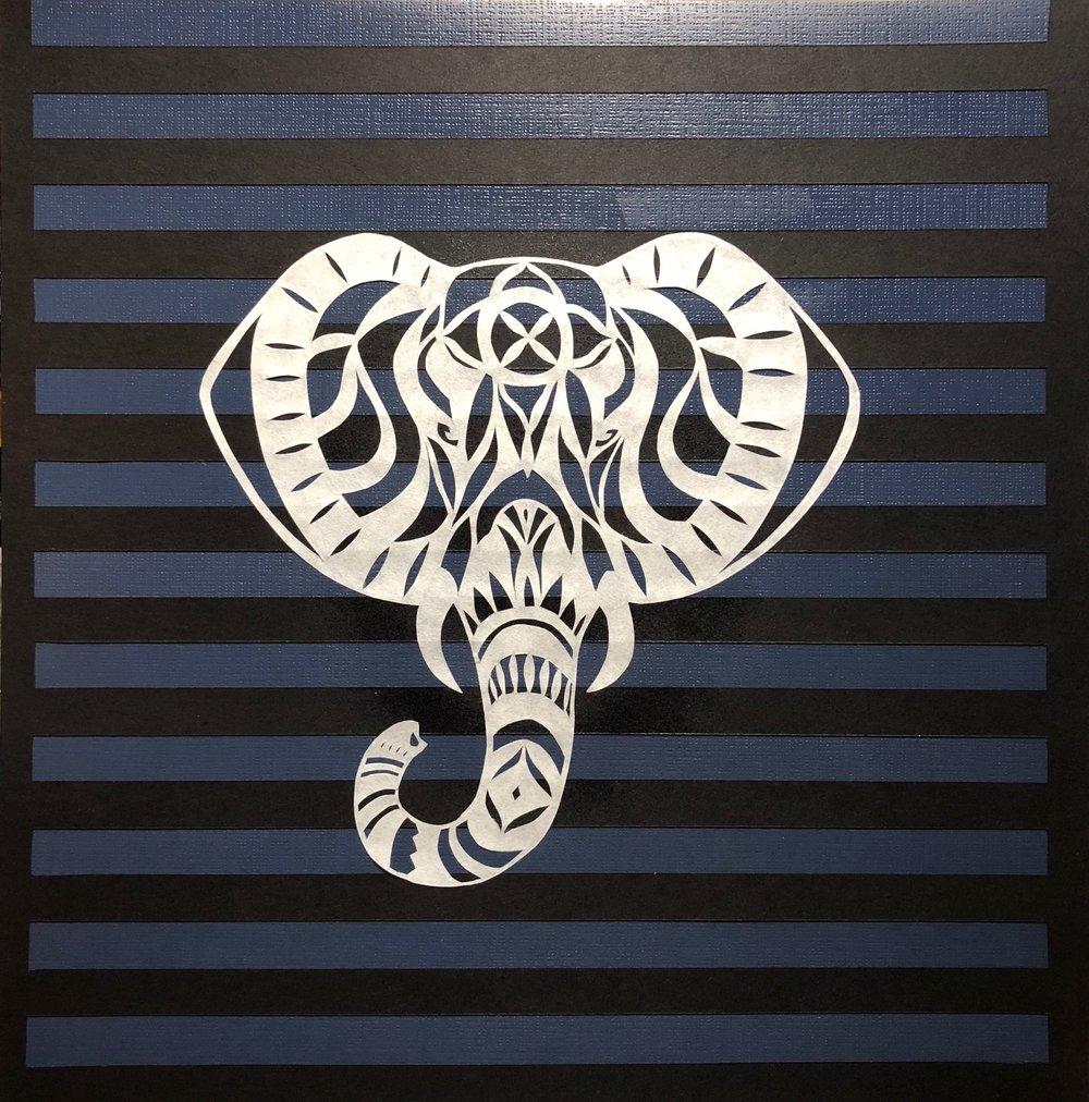 Elephant in navy