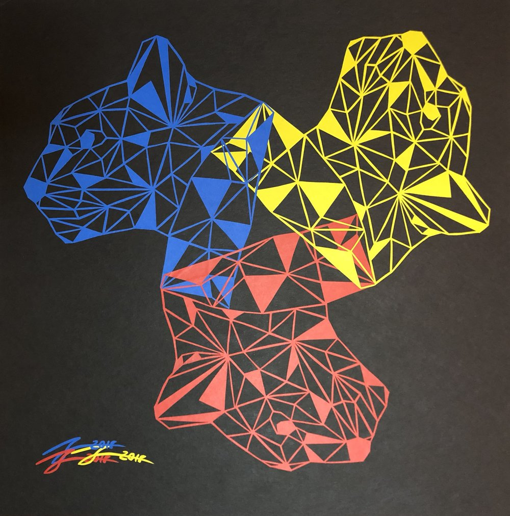 Cougar (Blue, Yellow, Red)