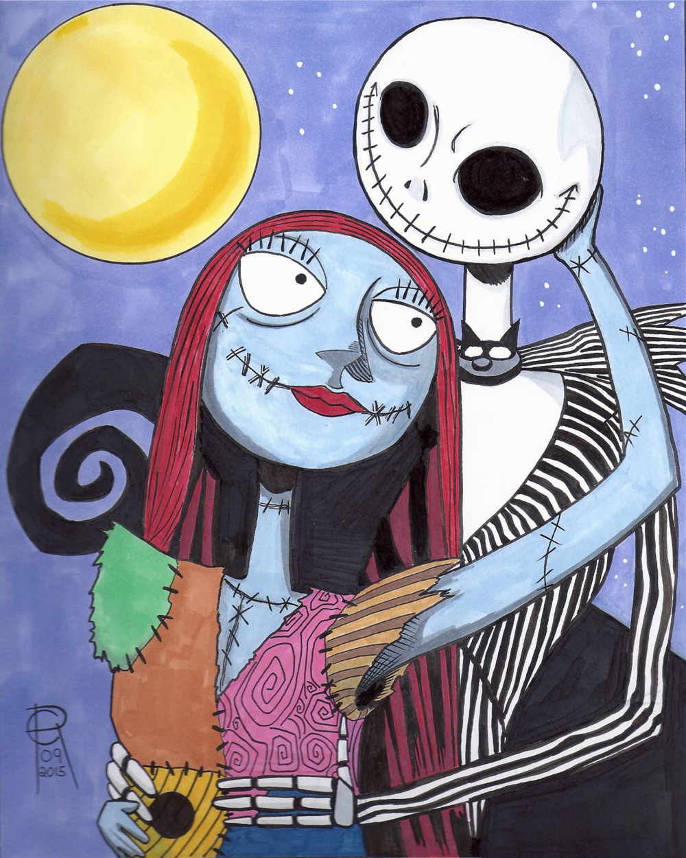 Jack and Sally (Nightmare Before Christmas) — The Art of Mental Pablum