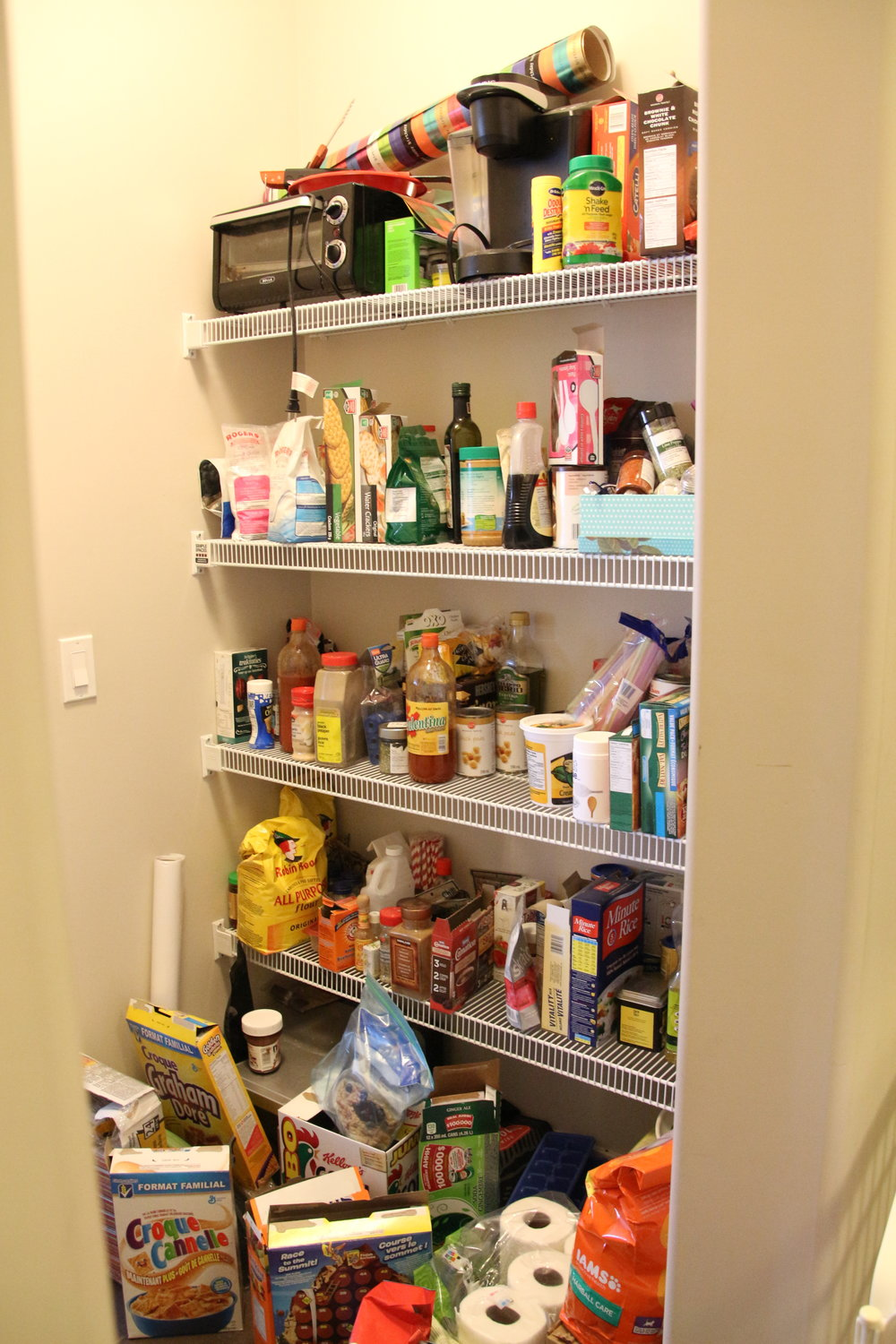 Before-Walk through pantry