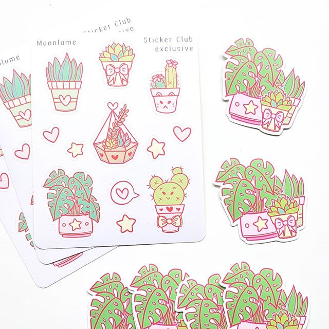 """✨ Sticker Club reveal - March! ✨ So basically, the theme that won the voting in my Sticker Club this month was """"Succulents & Plants""""... but another theme, """"Kawaii & Cute"""" was behind my just 3% of the votes! And, well, me being me and wanting to please as many people as possible... I combined the two :') 🌿 Hope you guys like them!! As usual they won't be available at my store, but if you've been a club member for at least a month, you can buy old designs! (provided I still have some in stock, of course) 🌸 Voting for April's theme starts in just a few days! If you wanna find out more about it and/or join the fun, check the link in my bio! ✨💘 + #terrarium #plants #green #pastel #stationery #stickers #planner #stationeryfinds #stationary #supplies #cute #kawaii #bujo #pink #bujoinspo #bulletjournal #studyspace #studynotes #study #studygram #studyblr #plant #plannersupplies #plannercommunity"""