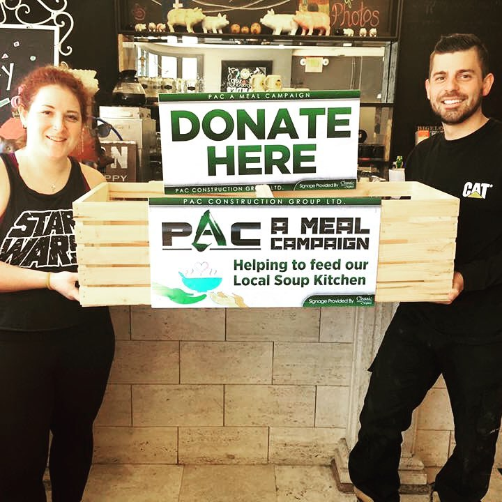 "The Breakfast Pig Owner Angela Caputo and Team Participating in ""PAC A Meal"" Campaign"