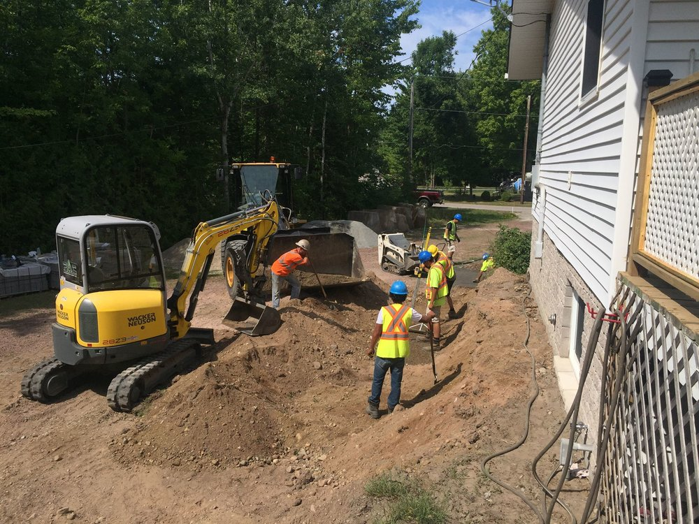 Excavation Prep For Retaining Wall