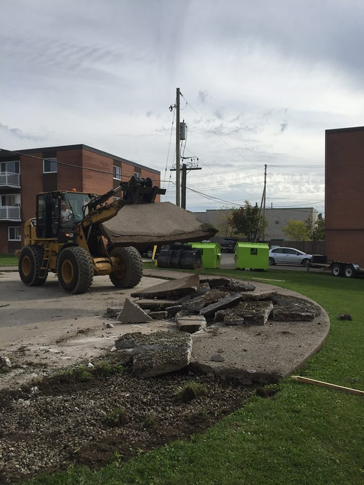 Concrete Demo and Haul Away
