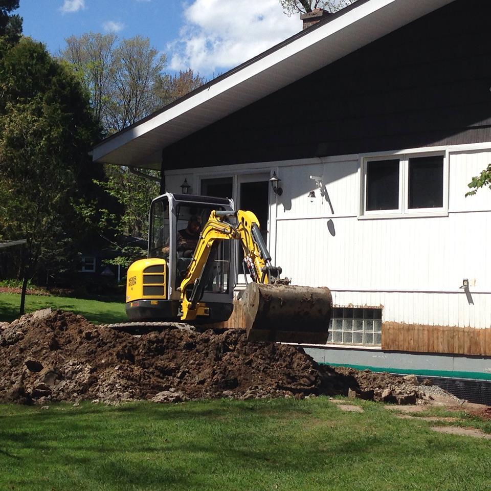 Waterproof Excavation and Patio Prep
