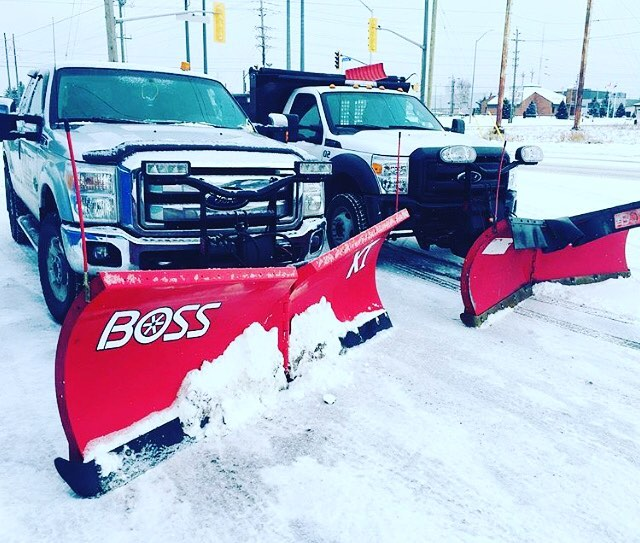 A Few Of Our Plow Trucks Ready For Another Storm