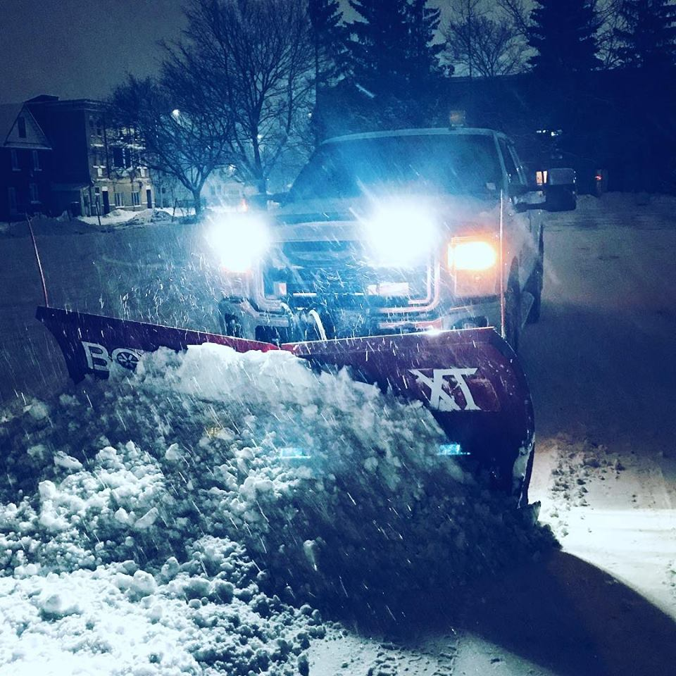 Boss V-Plow In Action