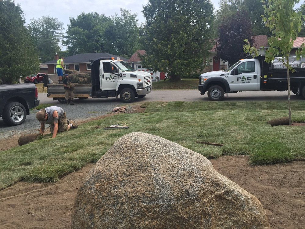 Sod Install With Slope At Ditch