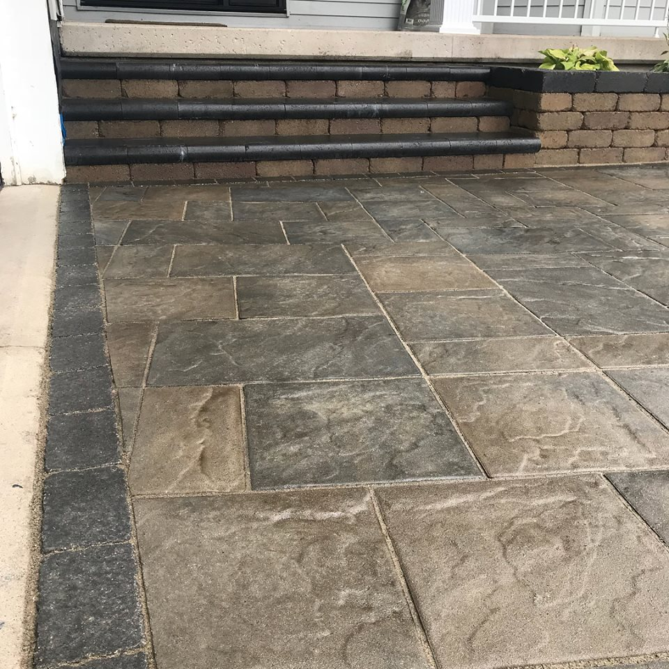 Appian Paver with Custom Stairs and Copping Stone - 2018