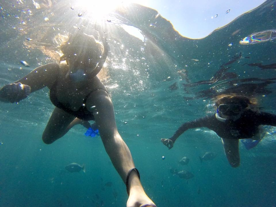 Testing out the GoPro for the Los Arcos snorkel tour