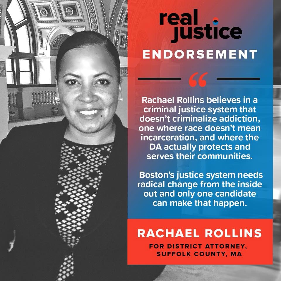 Real Justice, founded by Shaun King - To read the full endorsement, click here!To read Shaun's personal article endorsing Rachael, click here!