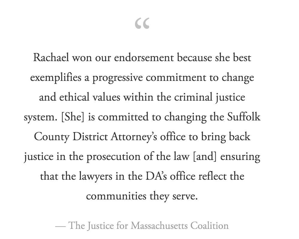 Justice for Massachusetts Coalition - This coalition is comprised of over 25 organizations throughout the Boston area who are focused on CJR as it impacts our most vulnerable populations.Read the complete endorsement here!