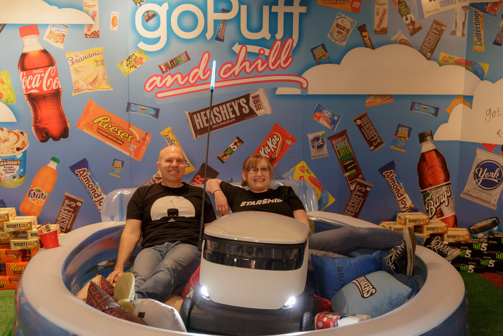 Starship gets into the Hershey goPuff Experience!