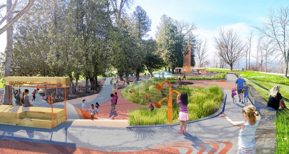 Rendering of the completed playground at Oakledge Park
