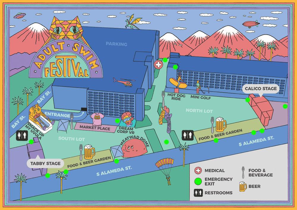 Adult Swim ROW DTLA Map