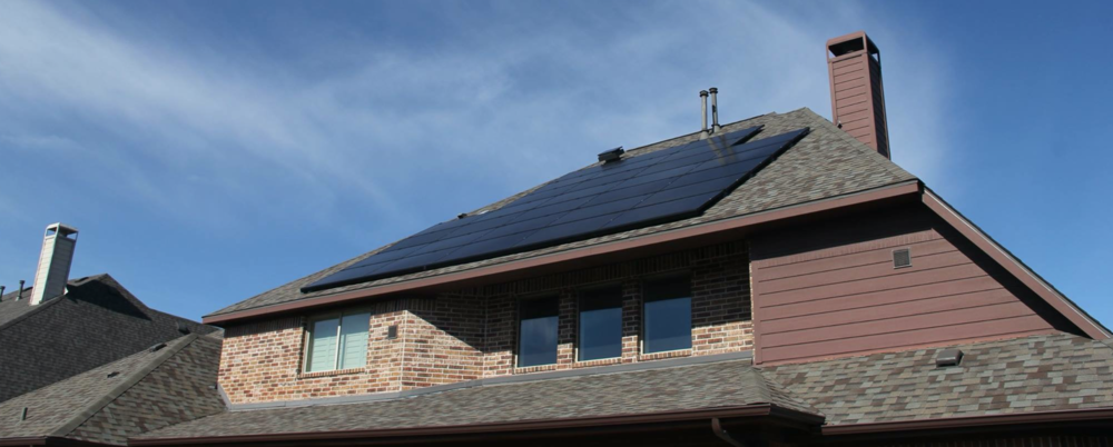 Recently installed Sunfinity solar system.