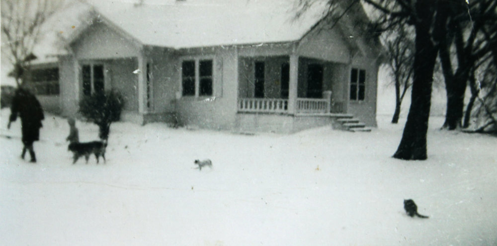 The home where Suzanne grew up located at Long and Christian Lane.