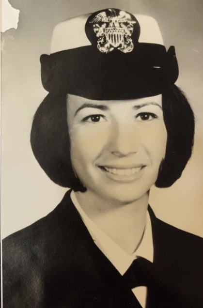 Charla Cain while stationed at Great Lakes Naval Training Base and Hospital in 1968.
