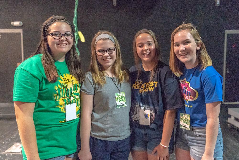 Summer Theater interns (Right to Left): Kynan Lowrence; Sydney Legg; Lauren Burgess; and, Sarah Bradley.